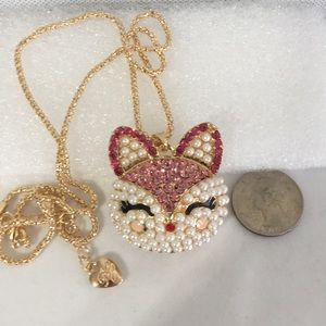 Large Cat Head Pendant and Chain